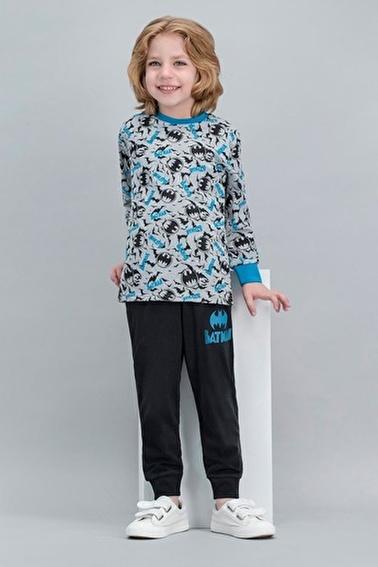 Batman Batman Lisanslı Grimelanj Erkek Çocuk Pijama Takımı Gri